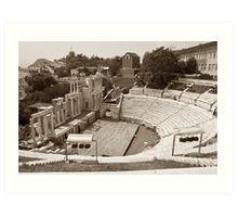 Plovdiv Amphitheater Art Print