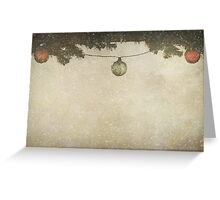 Christmas Baubles in the Snow Greeting Card