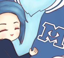 Demi Lovato hugging Sully Sticker