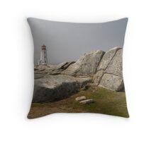 Light house in Peggy's cove, Nova Scotia, Canada Throw Pillow