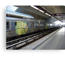 Urban train Canvas Print