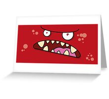 Angry Monster - Red Greeting Card