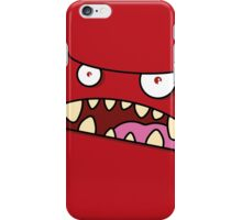 Angry Monster - Red iPhone Case/Skin