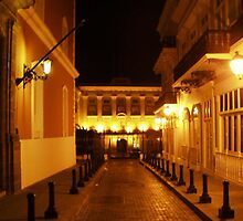 Fortaleza street at night by Elias Santiago