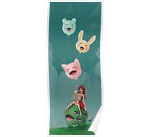 Girl 29   Girl and her imaginary pet grass monster Poster