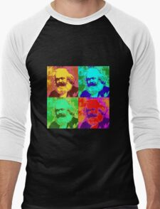 Karl Marx Pop Art Men's Baseball ¾ T-Shirt