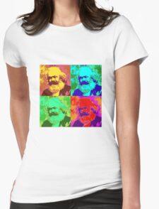 Karl Marx Pop Art Womens Fitted T-Shirt