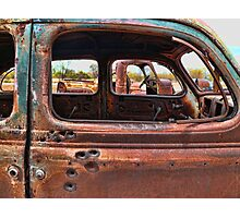 Bullet Hole Car Photographic Print