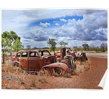 Car Wrecks in the Outback Poster