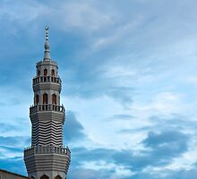 Mosque in the Evening by Nickolay Stanev