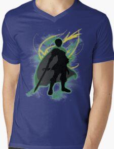 Super Smash Bros. Green Marth Silhouette Mens V-Neck T-Shirt