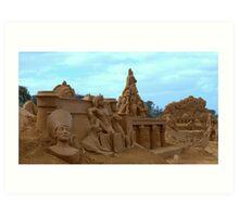Sand Sculpture Frankston Art Print