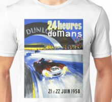 24 Hours of LeMans - 1958 Poster Art Unisex T-Shirt