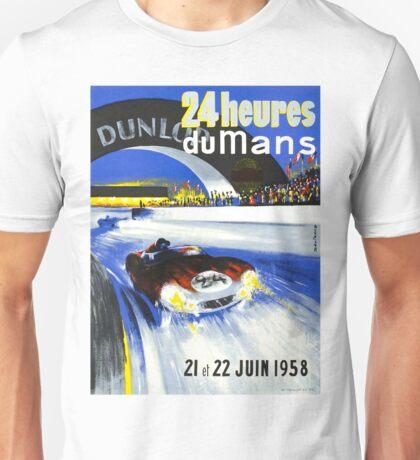 24 Hours of LeMans - 1958 Poster Art Unisex T-Shirt
