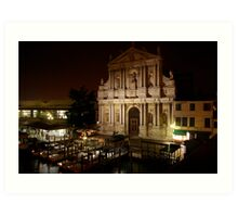 Chiesa degli Scalzi at night Art Print