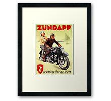 Zundapp Motorcycles Framed Print