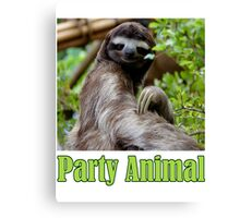 Party Animal - The Sloth Canvas Print
