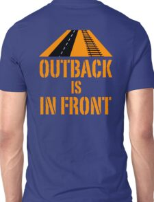 Outback In Front - Road & Rail, Funny Unisex T-Shirt