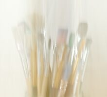 Abstract Paint Brushes by Evelyn Flint - Daydreaming Images