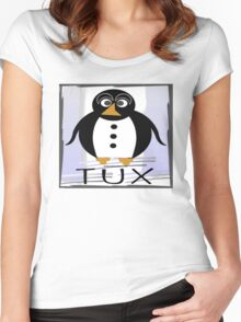 TUX:  STRAIGHT-UP Women's Fitted Scoop T-Shirt