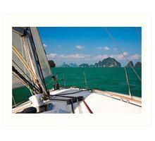 Sailing in Thailand Art Print