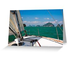 Sailing in Thailand Greeting Card