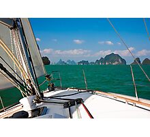 Sailing in Thailand Photographic Print