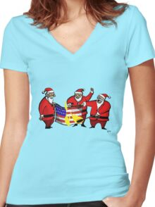 Anti-americanism in Lapland Women's Fitted V-Neck T-Shirt
