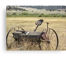 Old Planter in Field Canvas Print