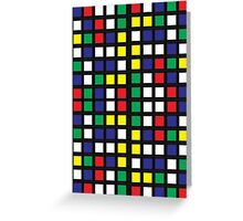 Cube Madness Greeting Card