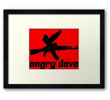 Angry Dove Framed Print
