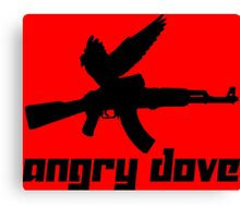 Angry Dove Canvas Print