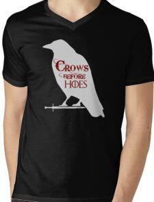 Crows Before Hoes Mens V-Neck T-Shirt
