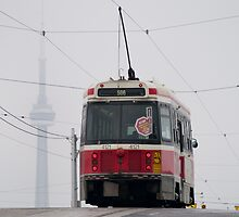 Street car and CN tower, Toronto by alopezc72