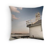 Lifeguard house at the Torontos beaches , Canada Throw Pillow