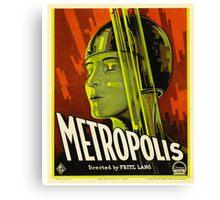 Metropolis - Vintage Sci-Fi Film by Fritz Lang Canvas Print