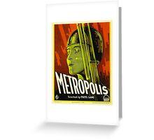 Metropolis - Vintage Sci-Fi Film by Fritz Lang Greeting Card
