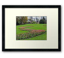 The Gardens in Spring Framed Print