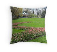 The Gardens in Spring Throw Pillow
