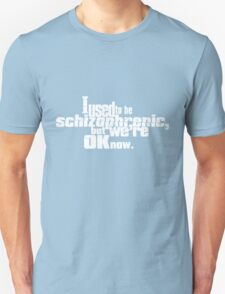 I used to be schizophrenic, but we're ok now. T-Shirt