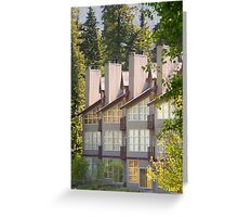 Lodges close to Lost Lake , Whistler , Canada Greeting Card