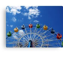 Ferris wheel without visitors Canvas Print