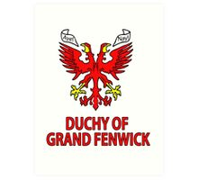Duchy of Grand Fenwick - Coat of Arms Art Print