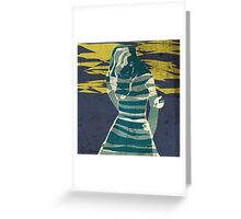 woman in the storm Greeting Card