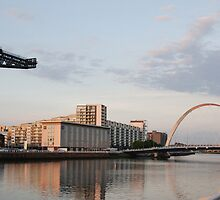 Sunset on the River Clyde (landscape) by kiltedh1
