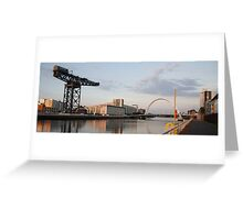 Sunset on the River Clyde (landscape) Greeting Card
