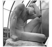 Male Sculpture, Kibble Palace, Glasgow Poster