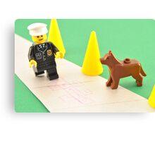 Lego Police Dog Canvas Print