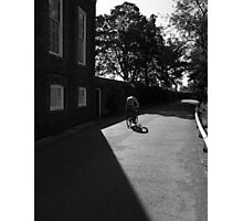 Bicyclist Shadow Photographic Print