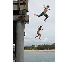 Jetty Jumping, Christmas Day in Australia Photographic Print